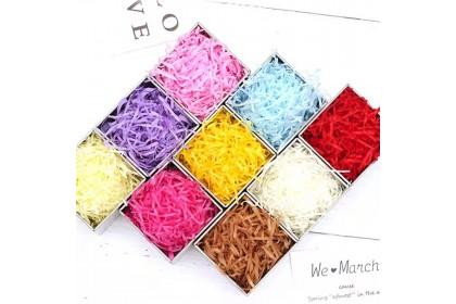 {READY STOCK} 100 Gram Gift Pack Colourful Shredded Paper/Lafite Paper 拉菲草礼物填充物 Cebisan Kertas Hiasan Hantaran