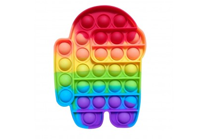 {M'SIA STOCK} Pop It Among Us Fidget Rainbow Toy Sensory Game Stress Reliever Gift For Kids Adult Friends Gobang灭鼠先锋太空狼人