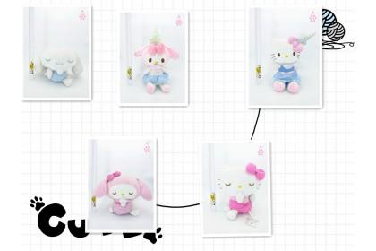 Sleepy Hello Kitty/Melody/Cinnamoroll SoftToys/PlushToys/KidsToys 25-35cm凯蒂猫/美乐蒂/玉桂狗娃娃玩具公仔25厘米-35厘米